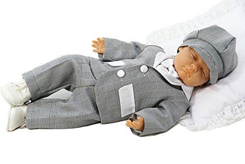 w w taufmoden baby jungen taufanzug sherlock grau. Black Bedroom Furniture Sets. Home Design Ideas